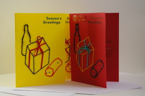 season's greetings pressies card 3 display