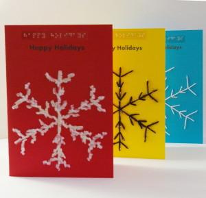 3 display snowflake card