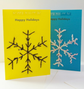 two display snowflake happy holiday card