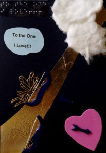 To the One I Love!!! golden cherubs and pink heart in clouds custom valentine's card